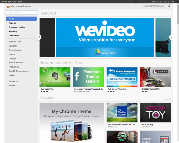 Chrome Web store app